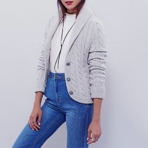 NWT Free People Viceroy Cable Button Button Cardi